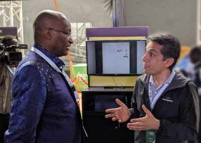 Navin discussing APIX rollout in Kenya with Governor Njoroge of Central Bank of Kenya at the Afro Asia FinTech Festival in Nairobi