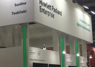 Percipient's booth for the 4th year with our Partners HPE & Intel, at SFF'19.