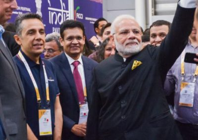 With Indian Prime Minister Modi after APIX launch at Singapore FinTech Festival