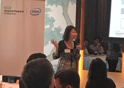 Ai Meun presenting to Financial Institutions in Bangkok at event hosted by our Partners HPE & Intel.