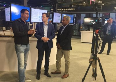 DK being interviewed onsite at HPE Discover